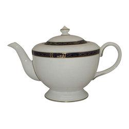 Lenox - Royal Worcester Mountbatten-Cobalt Blue Teapot & Lid - Royal Worcester Mountbatten-Cobalt Blue Teapot & Lid