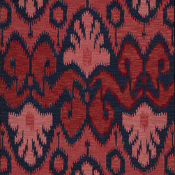 """Nourison - Nourison Siam SIA04 (Navy, Red) 3'6"""" x 5'6"""" Rug - Experience the magic and splendor of the East with these beautiful ikat rugs. The collection features bold and dramatic traditional patterns incorporating exciting colors with over-sized motifs. Bring elegance and style into any room with this vibrant, charming and ancient art. Great for any decor or room setting that would benefit from subtle tribal drama."""