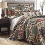 Levtex Home - Down Home Quilt Set - Make your bed more inviting with the rustic-inspired details and soft colors of this comfortable cotton quilt set.   Includes quilt and two shams 100% cotton Machine wash Imported