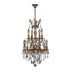 Worldwide Lighting - Versailles 15 Light Antique Bronze Finish Crystal Chandelier Two Tier CLEARANCE - This stunning 15-light Chandelier only uses the best quality material and workmanship ensuring a beautiful heirloom quality piece. Featuring a cast aluminum base in Antique Bronze finish and all over clear crystal embellishments made of finely cut premium grade 30% full lead crystal, this chandelier will give any room sparkle and glamour. Worldwide Lighting Corporation is a privately owned manufacturer of high quality crystal chandeliers, pendants, surface mounts, sconces and custom decorative lighting products for the residential, hospitality and commercial building markets. Our high quality crystals meet all standards of perfection, possessing lead oxide of 30% that is above industry standards and can be seen in prestigious homes, hotels, restaurants, casinos, and churches across the country. Our mission is to enhance your lighting needs with exceptional quality fixtures at a reasonable price.