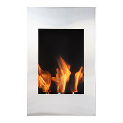 """Bioflame Xelo 13"""" Burner Stainless Steel Wall Mounted 12,000 BTU  Fireplace - 40044001Features:- 12,000BTU or 3.5Kw/h (heats on average 40m2 or 430ft2) - Stainless Steel Firebox Construction - Brushed Stainless Steel Fascia - 13? Burner- H 31.5"""" (800mm) W 19.7"""" (500mm) D 9.8"""" (250mm)FuelWant to know something sweet about the ethanol fuel used in Bio Flame fireplaces? It's all based on sugars!That's right, the Bio Flame ethanol fuel is so environmentally friendly that it is created through a fermentation process of sugars, including those from sugar cane, corn, beets, and potatoes. These natural, all-reable resources work together to create an ethanol fuel source that provides not only heat, but a beautiful, dancing flame, as well.Some of the additional benefits of using the Bio Flame ethanol fuel include:Environmentally friendly. Ethanol fuel is all-natural and made from reable resources. This means that you are not cutting down valuable trees that take much longer to regenerate.Better breathing. There is no air pollution with the Bio Flame ethanol fuel. This means that you, as well as everyone else, help to keep chemicals and toxins from being released into the air. You will breathe better in your home, and everyone else benefits from the reduction of pollutants, as well. There's no odor or smoke to worry about, either, providing you with a safe flame.Cleaner source. Ethanol fuel creates a clean heat source, eliminating the need to worry about cleaning soot or ash. Cleaning the Bio Flame fireplace is a breeze.Super simple. The ethanol fuel used in the Bio Flame fireplace is simple to use. Within seconds, you will have it refilled, never having to worry about spills or trekking out into the cold weather for another log.The Bio Flame environmentally friendly fireplaces use ethanol fuel, because it provides a better heat choice for you, and for everyone else. You never compromise on having a beautiful-looking fireplace, warmth, and a beautiful flame. Ethanol fuel prov"""