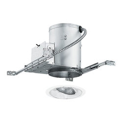 Juno Lighting Group - 5-inch Recessed Lighting Kit with Adjustable Trim - IC20/688W-WH - This recessed lighting kit features 5-inch insulation-ready housing and a white baffle with an adjustable gimbal ring. The gimbal ring has 30-degree vertical adjustment and 358-degree rotation. The housing can be completely covered with insulation. It is air-tight which reduces heating and cooling costs. The hangers are expandable up to 25 inches. Takes (1) 50-watt halogen PAR30 bulb(s). Bulb(s) sold separately. Damp location rated.