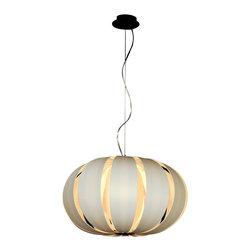 Trend Lighting - Trend Lighting TP3979-W Pique Oval Pendant - Trend Lighting TP3979-W Pique Oval Pendant