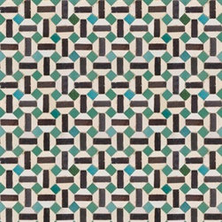 Walls Republic - Jade Geometry Wallpaper M8846 - Fes is a digitally printed wallpaper mural with exquisite detail creating a realistic tiled effect. Comprised of essential geometry and shapes this traditional pattern can be found within Morocco and Spain. Use it in your home office or dining room for an enchantingly authentic vibe.