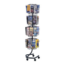 "Safco - Safco Wire Brochure Display Rack - Safco - Magazine Racks - 4128CH - This rotating wheeled brochure display rack is ideal for displaying brochures, pamphlets, resources, and magazines. The clean wire look allows for full-front view of literature. Includes 32 compartments that measure 4-1/2""W x 1-3/8"" deep to handle large display needs. Includes 4 viewing levels that rotate independently for easy identification and selection. Welded wire construction. Base has five dual-wheel casters (two locking). Compact knockdown design sets up quickly and easily without tools."