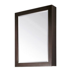 "Avanity - Avanity MODERO-MC28-ES Modero 28"" x 36"" Mirror Cabinet in Espresso - Avanity MODERO-MC28-ES Modero 28"" x 36"" Mirror Cabinet in EspressoThe Modero Collection has a simple, clean design with a rich espresso finish to make its products the anchor point of any bathroom.  This mirror features a soft-close door and 2 shelves inside. It matches the Modero vanities for a coordinated look and includes mounting hardware that makes leveling easy. Avanity MODERO-MC28-ES Modero 28"" x 36"" Mirror Cabinet in Espresso, Features:bull; Dimensions: 28"" w x 6.2"" d x 36"" h"
