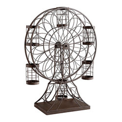 Cyan Design - Ferris Wheel Wine Holder - Ferris wheel wine holder in ebony.