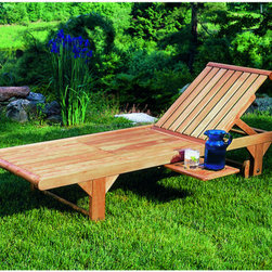 Outdoor Furniture - Hydrate while laying out with this Nantucket chaise complete with a tray. Visit us to see other ways to soak up the sun outside! | Northern Virginia | Lawn and Leisure