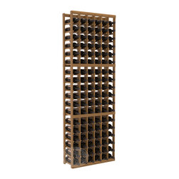 6 Column Standard Cellar Kit in Redwood with Oak Stain + Satin Finish - Six columns for bottle storage is a perfect solution for 9 cases of wine. The modular format ensures you can expand storage without worrying about new racks lining up properly. We construct every rack to our industry-leading standards. You'll love our racks. Guaranteed.
