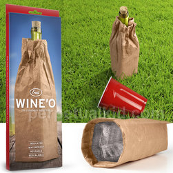 Wine-O Bottle Bag - Aptly named, this paper bag is reusable, insulated and waterproof. That's one class act.
