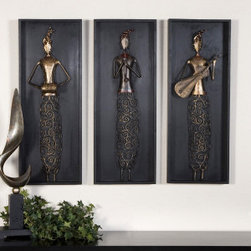 "Uttermost 4012 Indian Musicians, S/3 Alternative wall decor - Get 10% discount on your first order. Coupon code: ""houzz"". Order today."
