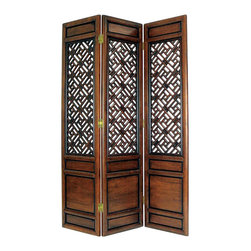 Wayborn - Wayborn Suchow Window Room Divider in Walnut - Wayborn - Room Dividers - 2328 -
