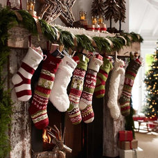 Traditional Christmas Stockings And Holders by Pottery Barn Kids