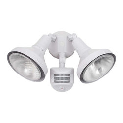 Globe Electric - Globe Electric 79125 300 Watt Two Light Motion Sensored Outdoor Security Light - Features: