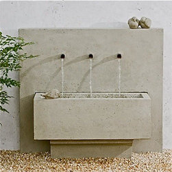 Campania International - Times Three Fountain - This is a great looking fountain with modern, clean lines. At the same time, I think this would look perfect in the middle of a town square in Tuscany.