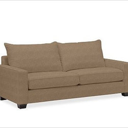 """PB Comfort Square Upholstered Sleeper Sofa Knife-Edge Poly-Wrap Cushions Washed - Built by our exclusive master upholsterers in the heart of North Carolina, our PB Comfort Square Upholstered Sleeper Sofa is designed for unparalleled comfort with deep seats and three layers of padding. 83"""" w x 40"""" d x 37"""" h {{link path='pages/popups/PB-FG-Comfort-Square-Arm-4.html' class='popup' width='720' height='800'}}View the dimension diagram for more information{{/link}}. {{link path='pages/popups/PB-FG-Comfort-Square-Arm-6.html' class='popup' width='720' height='800'}}The fit & measuring guide should be read prior to placing your order{{/link}}. Seat cushions have a lofty polyester padding. Choice of knife-edged or box-style back cushions. Proudly made in America, {{link path='/stylehouse/videos/videos/pbq_v36_rel.html?cm_sp=Video_PIP-_-PBQUALITY-_-SUTTER_STREET' class='popup' width='950' height='300'}}view video{{/link}}. For shipping and return information, click on the shipping tab. When making your selection, see the Quick Ship and Special Order fabrics below. {{link path='pages/popups/PB-FG-Comfort-Square-Arm-7.html' class='popup' width='720' height='800'}} Additional fabrics not shown below can be seen here{{/link}}. Please call 1.888.779.5176 to place your order for these additional fabrics."""