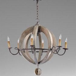 Cyan Design - Barrel Chandelier - Barrel chandelier - stained wood