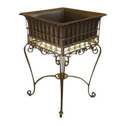 SOLD OUT!  Iron Plant Stand - $225 Est. Retail - $69 on Chairish.com -