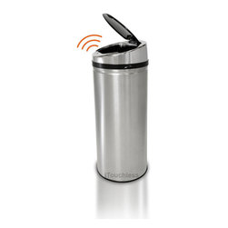 iTouchless - iTouchless NX 8-gallon Automatic Stainless Steel Trash Can - Make your place less contaminated with this convenient stainless-steel trash can. Equipped with a unique sensor technology,it opens automatically when debris is within a six-inch range. It will also automatically close after three seconds.