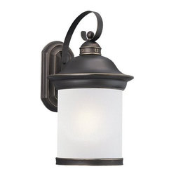 Sea Gull Lighting - Sea Gull Lighting 89193BLE Hermitage 1 Light Energy Star Outdoor Lantern Wall Sc - Specifications: