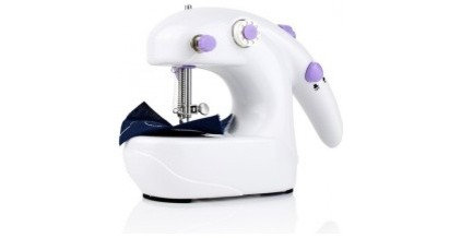 asian housekeeping Mini Portable Desktop Battery Operated Sewing Machine