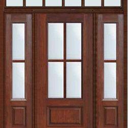 """Prehung French Sidelights-Transom Door 803/4 Lite 4 Lite - SKU#MCR08-SDL4_DF34D41-2RDBrandGlassCraftDoor TypeFrenchManufacturer Collection4 Lite Entry DoorsDoor Model4 LiteDoor MaterialFiberglassWoodgrainVeneerPrice4990Door Size Options32"""" + 2( 14"""")[5'-0""""]  $036"""" + 2( 14"""")[5'-4""""]  $036"""" + 2( 12"""")[5'-0""""]  $0Core TypeDoor StyleDoor Lite Style3/4 Lite , 4 LiteDoor Panel Style1 PanelHome Style MatchingDoor ConstructionPrehanging OptionsPrehungPrehung ConfigurationDoor with Two Sidelites and Rectangular TransomDoor Thickness (Inches)1.75Glass Thickness (Inches)Glass TypeDouble GlazedGlass CamingGlass FeaturesTempered glassGlass StyleGlass TextureClearGlass ObscurityNo ObscurityDoor FeaturesDoor ApprovalsTCEQ , Wind-load Rated , AMD , NFRC-IG , IRC , NFRC-Safety GlassDoor FinishesDoor AccessoriesWeight (lbs)663Crating Size36"""" (w)x 108"""" (l)x 89"""" (h)Lead TimeSlab Doors: 7 Business DaysPrehung:14 Business DaysPrefinished, PreHung:21 Business DaysWarrantyFive (5) years limited warranty for the Fiberglass FinishThree (3) years limited warranty for MasterGrain Door Panel"""
