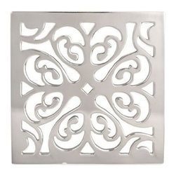 "Newport Brass - Newport Brass 233-405 Decorative Drains 4"" Square Shower Drain Grid - Features:Solid brass constructionEasy to install - magnetically securedRequires Newport Brass drain throat 277-01, sold separatelySpecifications:Length: 4-1/16""Width: 4-1/16""Depth: 3/16"""