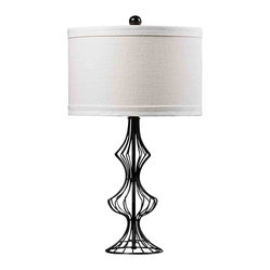 Dimond HGTV Home Matte Black Table Lamp