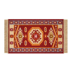 Reversible Authentic Kilim Rug / Size: 3'x4' - Rug of Ages Collection (Eagle Eye - Brand: Rugs of Ages