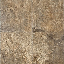 EGE Seramik - Imperial Noce Wall 10 x 13 - Reminiscent of the rustic, natural travertine indigenous to the Aegean coast of Turkey, the glazed porcelain Imperial Series offers tiles with a one-of-a-kind look. Virtually each and every Imperial tile produced looks different from the other. And, the overall visual characteristics are as close as possible to  natural travertine. The Mosaic can be used to create decorative features and borders. The coordinating Thrace Medallion Insert and Thrace Listello enhance the attractiveness of the tiles.