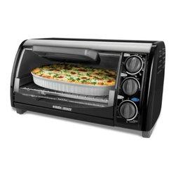 Applica - Black Decker 4 Slice Toaster Oven Black - Black and Decker 4-Slice Toast-R-Oven Broiler Black.