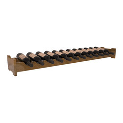 Wine Racks America - 12 Bottle Scalloped Wine Rack in Redwood, Oak Stain + Satin Finish - Decorative 12 bottle rack with pressure-fit joints for stacking multiple units. This rack requires no hardware for assembly and is ready to use as soon as it arrives. Makes the perfect gift for any occasion. Stores wine on any flat surface.