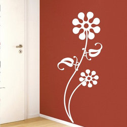 StickONmania - Abstract Geometric Flower #1 Sticker - A cool vinyl decal wall art decoration for your home  Decorate your home with original vinyl decals made to order in our shop located in the USA. We only use the best equipment and materials to guarantee the everlasting quality of each vinyl sticker. Our original wall art design stickers are easy to apply on most flat surfaces, including slightly textured walls, windows, mirrors, or any smooth surface. Some wall decals may come in multiple pieces due to the size of the design, different sizes of most of our vinyl stickers are available, please message us for a quote. Interior wall decor stickers come with a MATTE finish that is easier to remove from painted surfaces but Exterior stickers for cars,  bathrooms and refrigerators come with a stickier GLOSSY finish that can also be used for exterior purposes. We DO NOT recommend using glossy finish stickers on walls. All of our Vinyl wall decals are removable but not re-positionable, simply peel and stick, no glue or chemicals needed. Our decals always come with instructions and if you order from Houzz we will always add a small thank you gift.