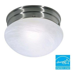 Glomar - Glomar 1-Light Flush-Mount Brushed Nickel Small Mushroom Fixture HD-2633 - Shop for Lighting & Fans at The Home Depot. Designed to provide energy-efficient illumination, the Glomar 1-Light Flush-Mount Brushed Nickel Small Mushroom Fixture features a stylish finish and white alabaster glass. This may take up to 5 days in delivery. Easy installation instructions and template enclosed for convenient setup.