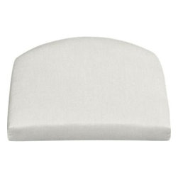 Summerlin Sunbrella® White Sand Arm Chair Cushion - Arm chair cushion is fade- and mildew-resistant Sunbrella acrylic in warm white sand.