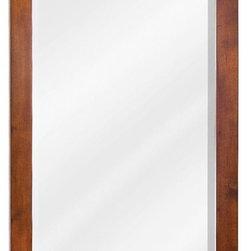 "Hardware Resources - Jeffrey Alexander Chatham Shaker Mirror in Chocolate (MIR090-24) - 22"" x 34"" Chocolate mirror with beveled glass"