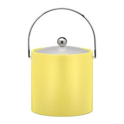Kraftware - Bartender's Choice Fun Colors Ice Bucket in Lemon - Plastic lid. Chromed bale handle and flat knob. Frosted vinyl lid. Made in USA. 9 in. W x 9 in. D x 9 in. H (3 lbs.)Our Fun Colors Collection features the hotest colors for the season, to provide you with great entertaining items, with up to the minute styling. Great for indoor and outdoor entertaining.