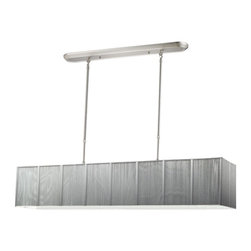 Z-Lite - Casia Brushed Nickel with Silver Shade 48 x 9 5-Light Island/Billiard - Light bulbs not included