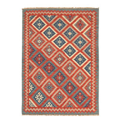 "Jaipur Rugs - Flat Weave Tribal Pattern Multicolor Wool Handmade Rug AT01 - Decorating with intricate patterns doesn't have to be complex. This modern take on a classic ""kilim"" wool rug acts as a neutral base that will beautifully tie your room together. It's handwoven and reversible, and looks equally spectacular against dark wood and light upholstery."