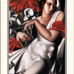 Amanti Art - Portrait of Ira Framed Print by Tamara de Lempicka - Bring a romantic, avant-garde feel to any room with this artful print by Tamara de Lempicka (1898-1980). Lempicka is best known for her Art Deco portraits, featuring sensuous, bedroom-eyed women in stylish dress.
