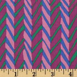 Kaffe Fassett Collective 2010 Soft Herringbone Stripe, Pink - Jewel tones have become increasingly popular in fashion, so why not in home decor? I could see myself using this fabric in a big-girl room. It would be great for pillow shams. Let's be honest though, I'd likely end up buying an extra yard or two and wearing the fabric as well.