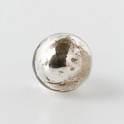 Silvered Mirror Knob, Petite Orb - I can't think of anything better than a mercury glass knob. This would shimmer just beautifully.