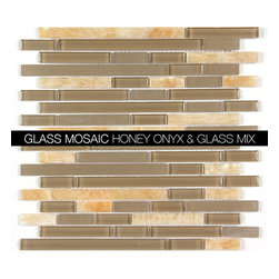 All Marble Mosaic Glass and Stone blend Random Strip 12 x 12 Mosaic Tile Mag-444 - Glass and Stone Blend Mosaic Tiles and Backsplash from All Marble Tiles | All Marble Mosaic Glass and Stone blend Random Strip 12 x 12 Mosaic Tile Mag-4442-ST |  http://AllMarbleTiles.com