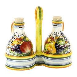 Artistica - Hand Made in Italy - Frutta: Oil and Vinegar Set - Frutta Collection: