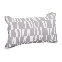 Outdoor Gray Sticks Small Pillow