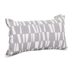 Majestic Home - Outdoor Gray Sticks Small Pillow - Whether you need an extra head or back cushion while you're kicking back on the deck or in the den, or you'd just like to add a little color to your chair or settee, this little pillow has got you covered. Stylish yet durable, its designed to fit into your everyday life, with a comfy and casual recycled fiber fill and a cute stick-patterned cover that's safe for outdoor use and easy to remove for cleaning.