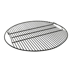Fire Pit Grate - Porcelain Coated - Mankinds relationship with fire began back in the caveman days, when a fire provided light and warmth and therefore a sense of well being. Our relationship with fire has moved on, from when it was an absolute necessity, to now, when we use fire more for pleasure than survival.