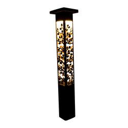 "Attraction Lights - Path light- Decorative Steel- Aspen Design, 37"" - -Solid, 1/8"" high grade steel construction"