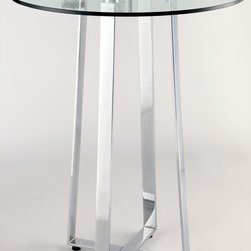 Chintaly Imports - Chambers High Bar Table - Modern X Design Base. Adjustable leveling feet.