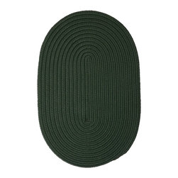 Colonial Mills - Colonial Mills Boca Raton BR64 Dark Green Rug BR64R144X180 12x15 - Just pick a coloreany colorethey are all here! This colorful outdoor rug utilizes a simple flat braid construction in an array of colors to put a fashionable stamp on your decor.